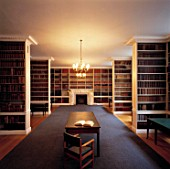 Library and reading desk. Royal Institution of Great Britain. 21 Albemarle Street, London, United Kingdom.