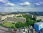 View of Elephant and Castle prior to the re-generation program, London Borough of Southwark. England