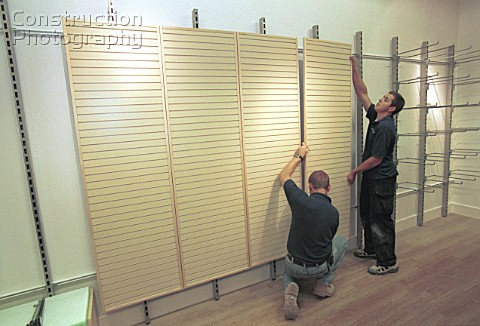 Shop Fitting Fixing wall panelling