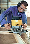 Bench Joinery. Using a router, portable power tool.