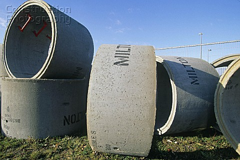 Concrete cylinders drain sections drain pipe