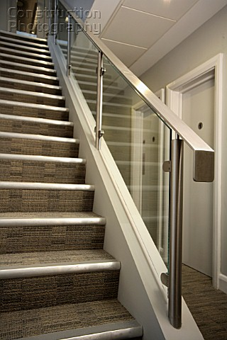 Stairs With Metal Banister