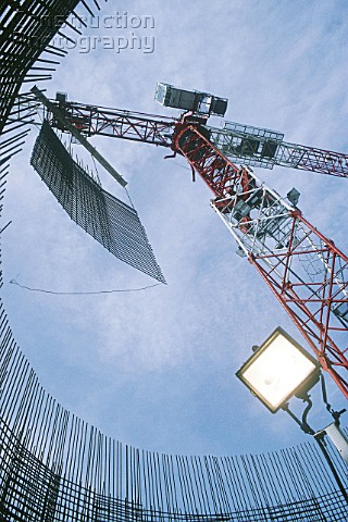 A012 00135 Tower Crane Lifting Steel Reinforcing Mesh