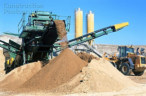 Conveyor belt on a Quarry Sand and gravel extraction