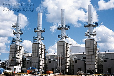 Steam generators for the SAGD oilsand extraction plant for Devon Energy south of Fort MacMurray in A