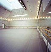 Ballet rehearsal studio in the Royal Opera House. Covent garden, London, United Kingdom.