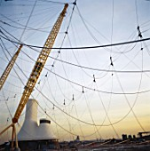 Construction of the Millennium Dome, Greenwich, London, UK
