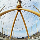 Roof support for the Millennium Dome, Greenwich, London, UK