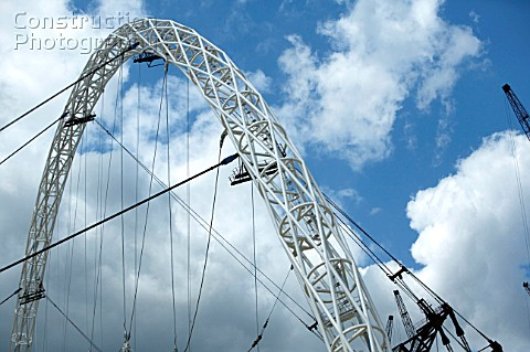 A025 00036 The Wembley Stadium Triumphant Arch Is The M