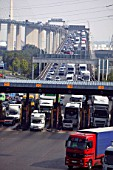 Congestion on the Dartford Crossing toll, London
