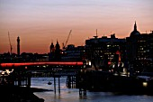 Night view of London Bridge, City of London, UK