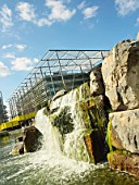 Waterfall at Chiswick Business Park, London, UK