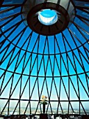 30 St Mary Axe, or the Gherkin, interior view at the top of the tower
