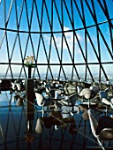 Restaurant at the top of 30 St Mary Axe, or the Gherkin, London, UK