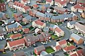 Housing estate, UK, aerial view