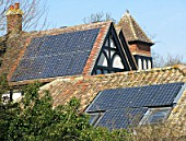 Solar Panels on old house in the Cambridgeshire fens