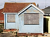 Boarded up bungalow, Jaywick, Essex