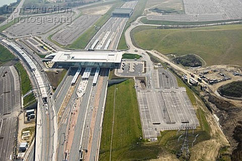 Aerial View of Ebbsfleet International Station opened on 29 Jan 2008 The aerial view shows some of t