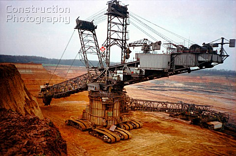 Brown coal digger open cast mining North Rhine Germany