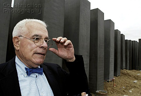 Peter Eisenmann architect of the memorial for the holocaust The 18m monument designed by American ar