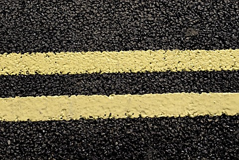 Double yellow road line