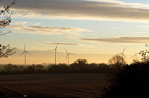 Wind farm near Swaffham Norfolk UK