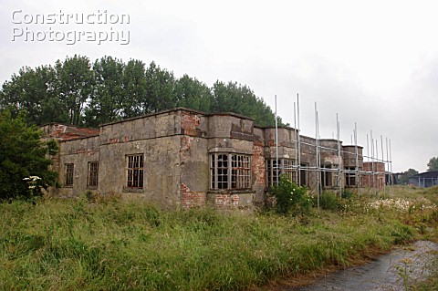 Derelict buildings at RAF Yatesbury Wiltshire UK which may be converted into a prison