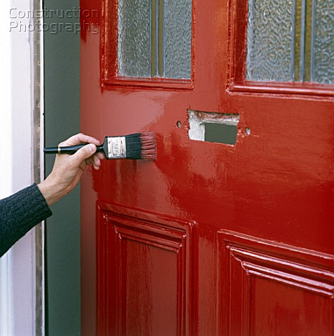 Red front door paint