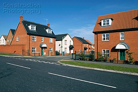 New housing on an modern residential estate North Kent Thames Gateway regeneration area England UK