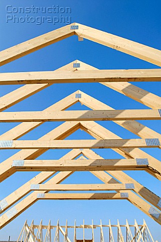 Roof trusses pitched roof