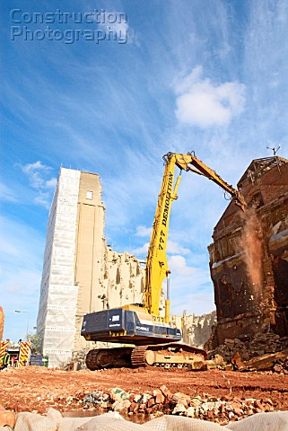 Factory under demolition for a new property development scheme in Ipswich UK