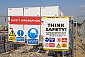 Safety Signs at Construction Site, UK
