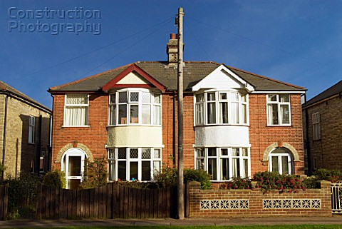 Semidetached houses England UK