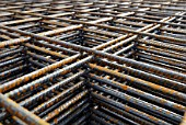 Concrete reinforcement: steel rebar detail