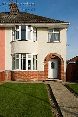 1930s semidetached house Ipswich Suffolk UK