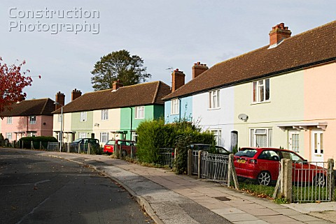 1950s terraced housing Ipswich Suffolk UK