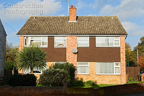 1960s semi detached houses Ipswich Suffolk UK