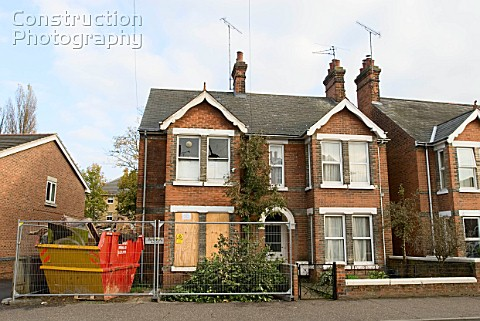 Edwardian house under renovation Colchester Essex UK