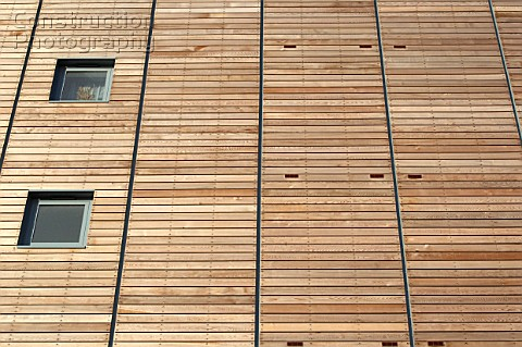 Timber cladding faade Ipswich UK