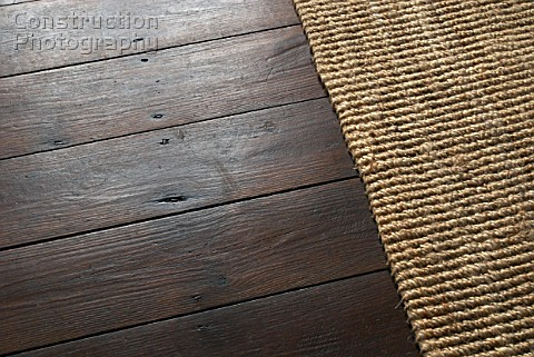 a088-03021: wooden floor with rug - construction photography