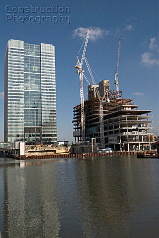 Construction in Canary Wharf London United Kingdom