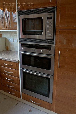 Oven And Microwave In New Kitchen