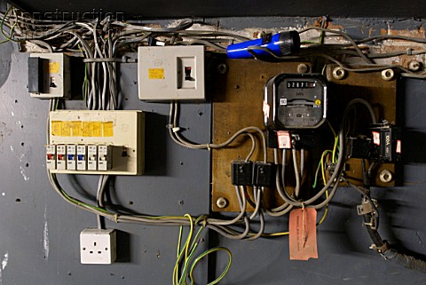 A088 03445_Old_electrical_installation_with_switch_box_meter_and_fuse_box fuse box installation fuse 8a 250v 326 \u2022 wiring diagrams j how much to change an old fuse box at panicattacktreatment.co