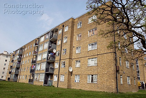 Council estate housing in Clapham Southwest London United Kingdom
