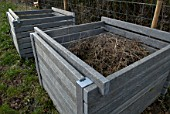 Recycled plastic compost bins
