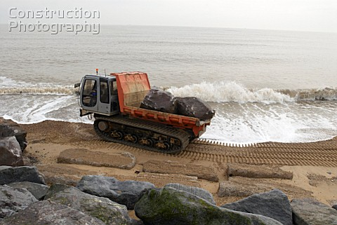Sea protection construction Felixstowe UK