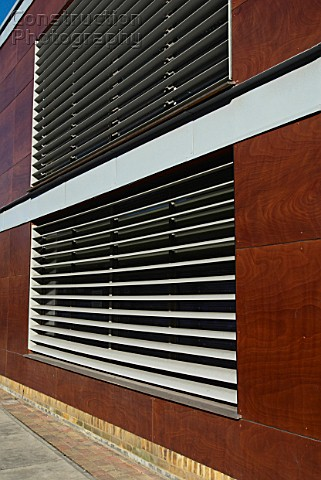 A088-05226: Exterior window blinds on community centre ...