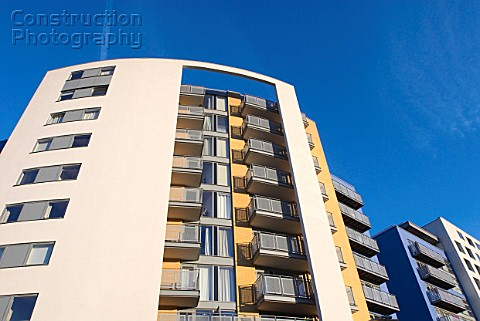 Modern apartment blocks Deptford London UK