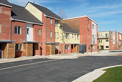 New housing at the South Lynn Millennium community development in Kings Lynn one of seven UK sites s