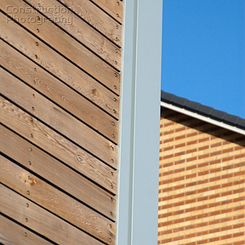 Timber cladding and brick faade Ipswich UK